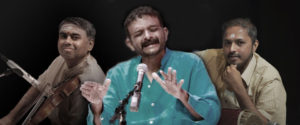 T.M. Krishna with RK Shriramkumar & K Arun Prakash