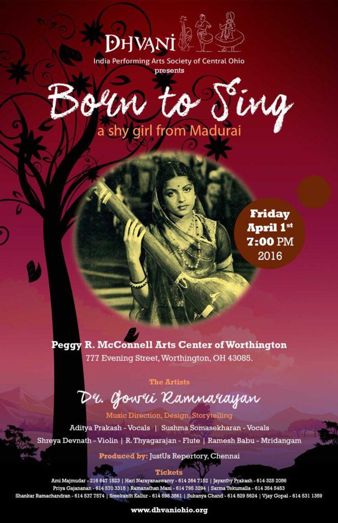 Dr Gowri Ramnarayan - Story TellingAditya Prakash, Sushma Somasekharan - VocalShreya Devnath - ViolinR Thyagarajan - FluteRamesh Babu - Mridangam