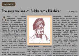 The ragamalikas of Subbarama Dikshitar